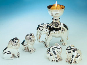 Elephant Tealight and Elephant and Lion Salt and Peppers