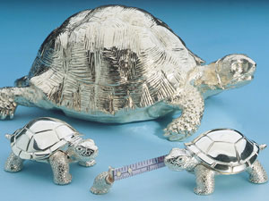 Tortoise Paperweight and Tape Measure