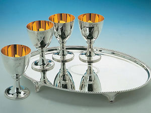 Bright Cut Goblets