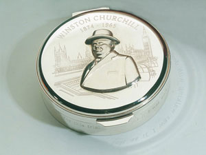 Churchill, Brunel and Nelson Round Boxes